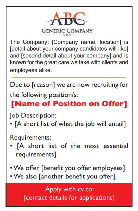 Topic Newspaper Job Advertisement Package | Midland Jobs